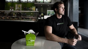 Luke Baylis, co-founder of SumoSalad, which recently put two of its concerns into administration in order to force landlord giant Scentre to cut rent.