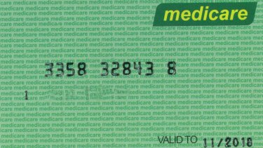 The fake Medicare card obtained from a manufacturer in China.