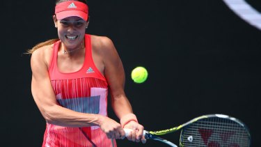 Ana Ivanovic has resumed her match against Anastasija Sevastova.