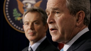 President Bush, right, and British Prime Minister Tony Blair in 2006.