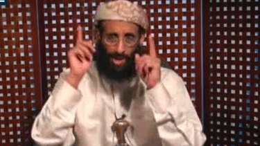 Anwar al-Awlaki speaks in a video message posted on radical websites in an image from 2010.