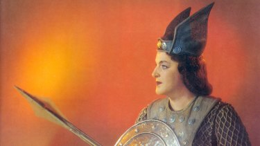 It ain't over till the fat lady sings: Birgit Nilsson as a classic Wagnerian Brunnhilde in 1975.