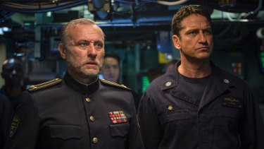 Michael Nyqvist (left) and Gerard Butler star in Hunter Killer.