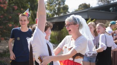 Woodleigh School students Cas Baptist and Indigo Rule react to the same-sex marriage survey result.