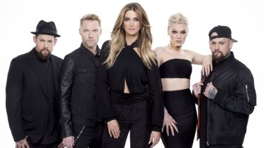 The current crop of coaches on Channel Nine's singing reality show, <i>The Voice</i>.