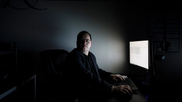 Jake Williams, a former member of the National Security Agency's hacking unit, at his cybersecurity firm outside of Augusta, Georgia.