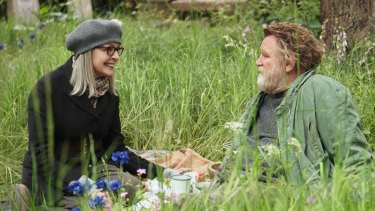 Emily Walters (Diane Keaton) and Donald Horner (Brendan Gleeson) are an unlikely pairing in <i>Hampstead</i>.