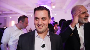 John Zimmer, co-founder and president of Lyft, with Carl Icahn, right, the activist investor, at an event in New York.