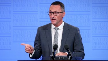 """I take a long view about our chances in the lower house"": Greens leader Richard Di Natale."