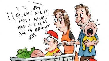 Playlists for shops and businesses are designed to make customers feel in tune with particular brands. Illustration: John Shakespeare