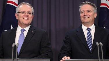 Treasurer Scott Morrison and Finance Minister Mathias Cormann.
