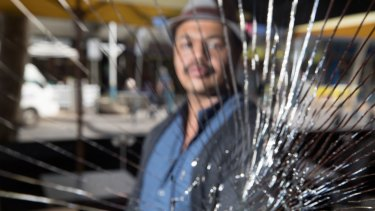 Mohammed Gurish, one of the traders who is fed up with drug addicts fighting and shooting up.
