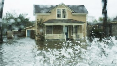 Houses were left inundated in Rockport, Texas, with heavy rain still falling in the region.