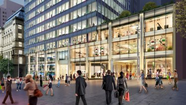 Artist's impression of Apple's new home at 20 Martin Place, being built by Pembroke Real Estate.