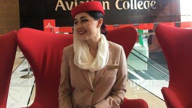 Ciara Burke in her Emirates uniform.