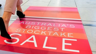 Myer sales disappointed after its important stocktake sale fell short of expectations.
