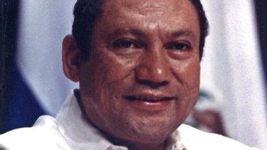 Noriega smiling in Panama in 1998.
