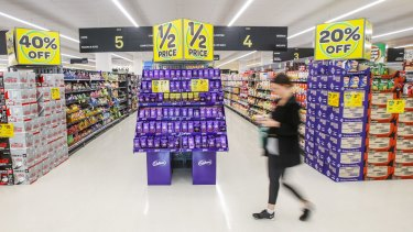 Metcash and the IGA stores are improving in the supermarkets sector even though Woolworths (pictured) is investing heavily in a revival. Aldi has been in Australia for 15 years, but it's discretionary retailers like Myer which face a much bigger competitive threat from offshore retailers.