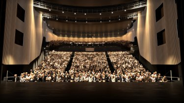 An artist's impression of the 2000-seat theatre, which is being billed as the largest performing arts facility in Western Sydney.