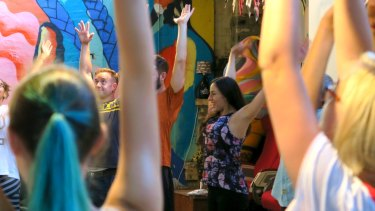 Mix giggles with yoga at World Laughter Day.