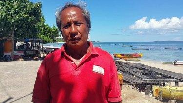 Former seaweed farmer Albert Ngguse.