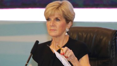 Australian Foreign Minister Julie Bishop attends the Indian Ocean Rim Association summit in Jakarta.