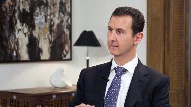 Syrian President Bashar al-Assad in Damascus in December.