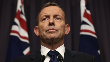 """Prime Minister Tony Abbott promised the decision to take in refugees would reflect """"Australia's proud history as a country with a generous heart""""."""