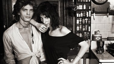 Robert Mapplethorpe and Patti Smith in New York in 1969.