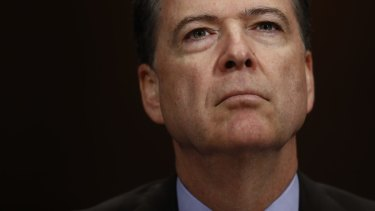 Sacked: Former FBI director James Comey.