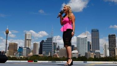 Organisers hope singer Anja Nissen will be joined by 23 million people around the country in singing the national anthem on Australia Day.