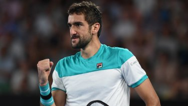 Cilic earns a break to push Federer into a fifth set.