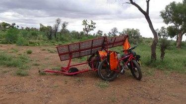 Sam's home made solar-powered bike.