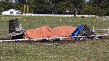 A light plane has crashed killing two men.