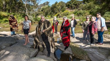 Indigenous elders from across Victoria gathered on the banks of the Merri Creek on Friday.