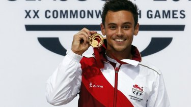 Dominant: Tom Daley of England