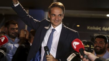 """Kyriakos Mitsotakis: """"I asked for a strong mandate to change Greece. """"You gave it to me generously. Today begins a difficult but beautiful battle."""""""