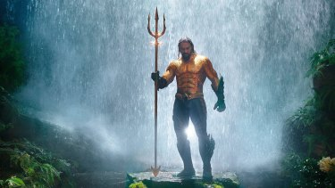 Jason Momoa stars in <i>Aquaman</I> as Arthur, who can swim very fast, breathe underwater and establish telepathic contact with passing fish.