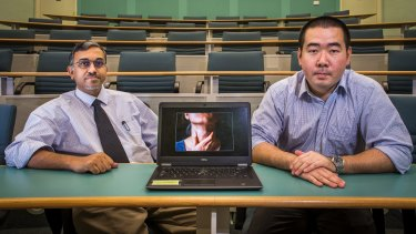 Lead researchers: Suhail Doi (left) and Luis Furuyi-Kanamori.