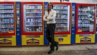 Hari Shotham says each machine turns over $1000 a week.