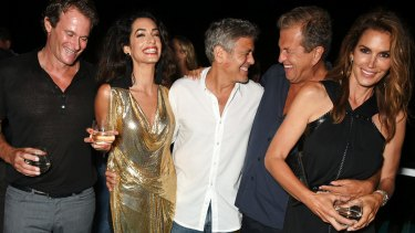 Tequila times: Rande Gerber, Amal Clooney, George Clooney, Mario Testino and Cindy Crawford attend the Casamigos launch.