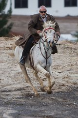 Mamdouh Elomar during a solitary ride at his Sydney property after news his son Momhamed was killed in Syria.
