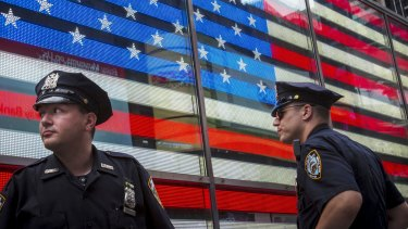 Security in Times Square in New York has been stepped up.