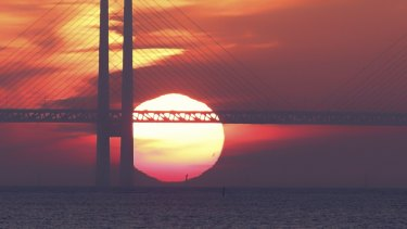 The Oresund Bridge, linking Sweden and Denmark, was seen as a glistening symbol of the new Europe.