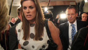Peta Credlin with Tony Abbott in 2012