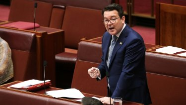 Dean Smith makes the case for his bill on same-sex marriage on Thursday.