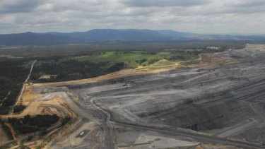 Rio Tinto's Mount Thorley Warkworth coal mine in the Hunter Valley.