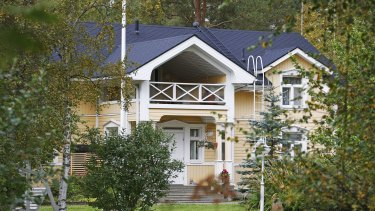 A view of Finnish Prime Minister Juha Sipila's house in Kempele, Finland.