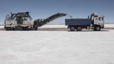 A lithium mine in Bolivia.
