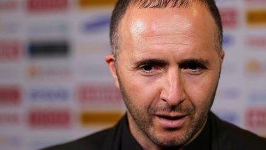 ''Big ambitions:'' coach Djamel Belmadi.
